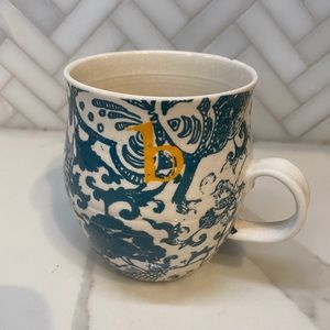 Anthropologie Homegrown Monogram Mug B